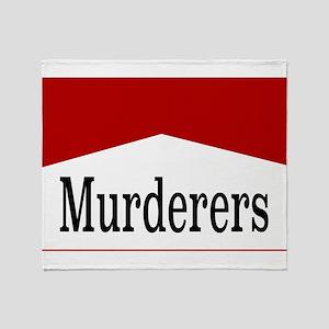 MURDERERS Throw Blanket