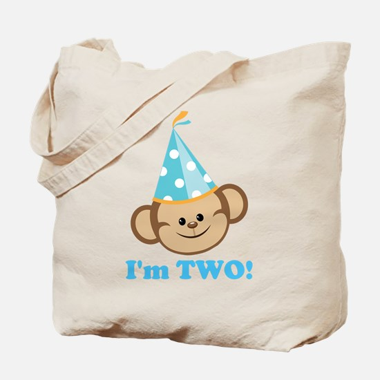 Second Birthday Monkey Tote Bag