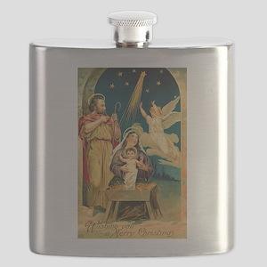 Christmas Nativity Scene Flask