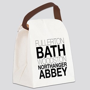 Northanger Abbey Locations Canvas Lunch Bag