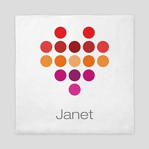 I Heart Janet Queen Duvet