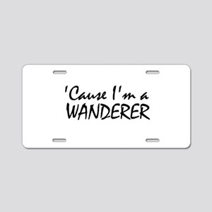 The Wanderer Aluminum License Plate