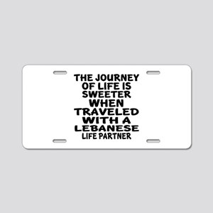 Traveled With Lebanese Life Aluminum License Plate