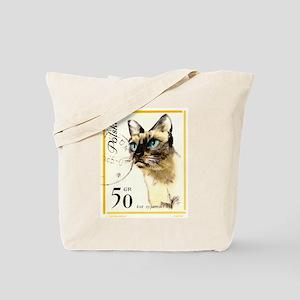 1964 Poland Siamese Cat Postage Stamp Tote Bag