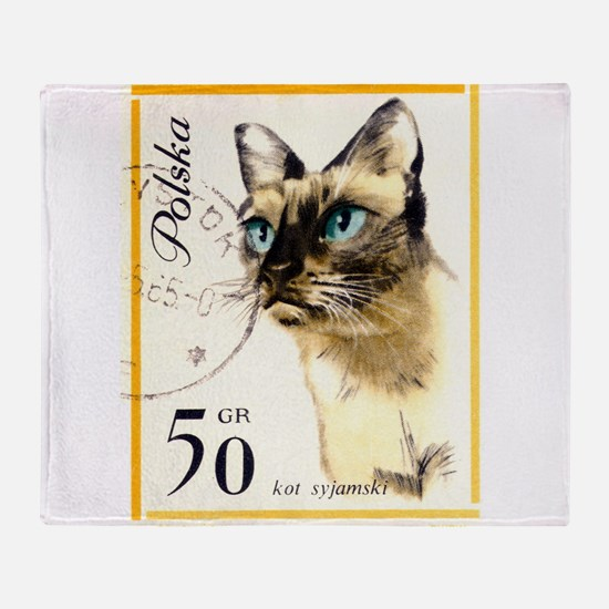 1964 Poland Siamese Cat Postage Stamp Stadium Bla