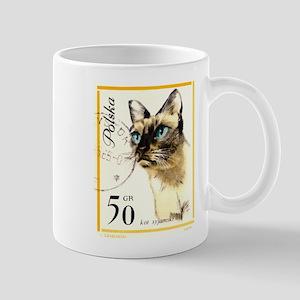 1964 Poland Siamese Cat Postage Stamp Mug