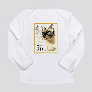 1964 Poland Siamese Cat Postage Stamp Long Sleeve