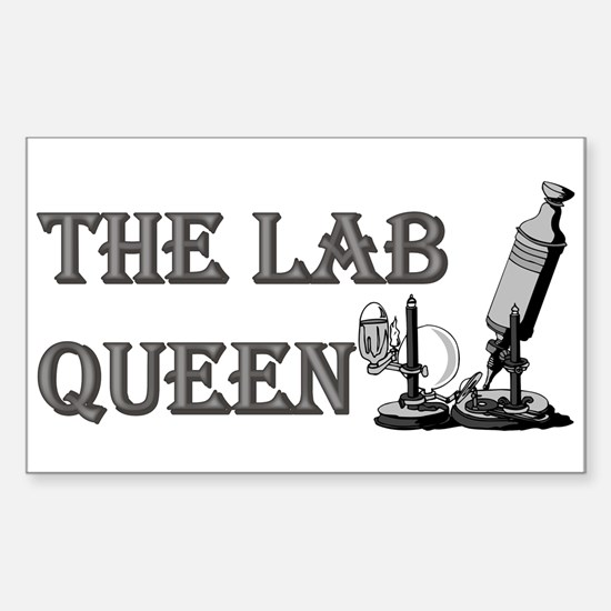 THE LAB QUEEN Rectangle Decal