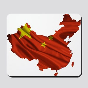 Chinese Flag and Map Mousepad