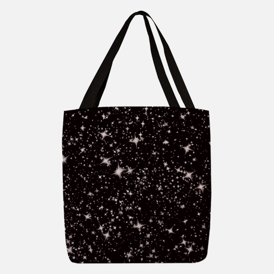black starry night Polyester Tote Bag