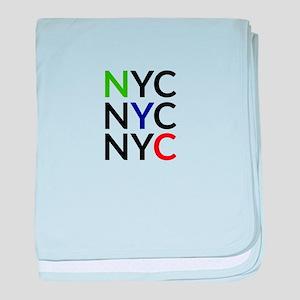 NYC baby blanket