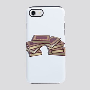 Stacked Books Gold leaf iPhone 7 Tough Case