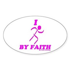 I Run By Faith (Womens 3rd Edition) Sticker
