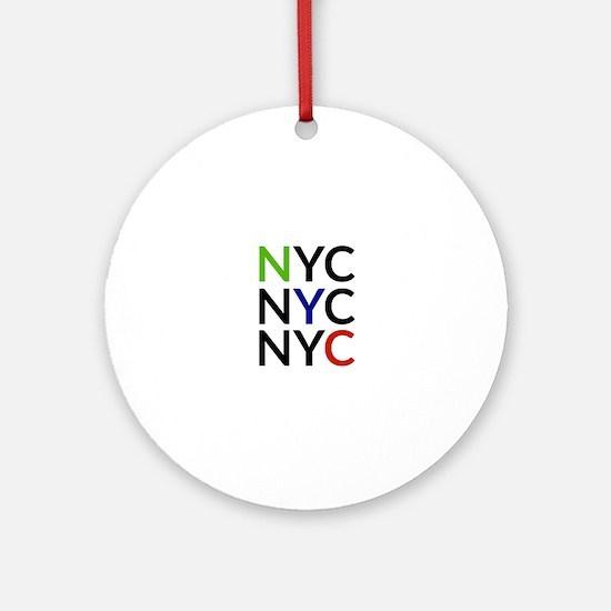 NYC Round Ornament