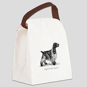 English Cocker Spaniel Canvas Lunch Bag