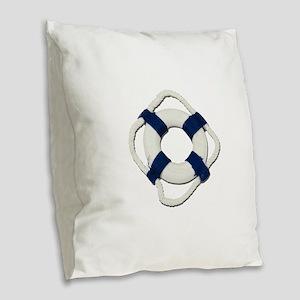 Blank Life Preserver Burlap Throw Pillow