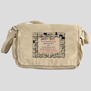 Puzzle No Two Alike Messenger Bag