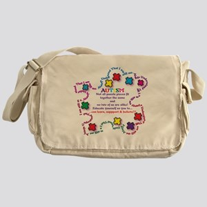 Puzzle Pieces No Two Alike Messenger Bag