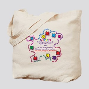 Puzzle Pieces No Two Alike Tote Bag