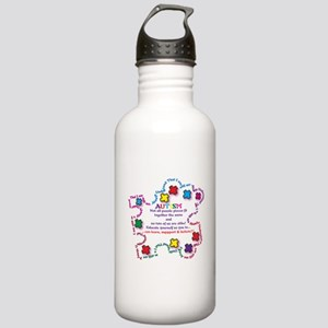 Puzzle Pieces No Two Alike Water Bottle