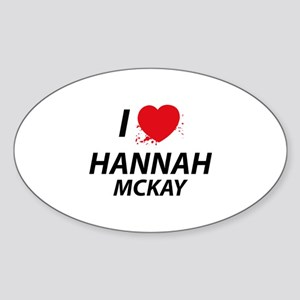 I Love Hannah - Dexter Sticker (Oval)