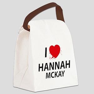 I Love Hannah - Dexter Canvas Lunch Bag