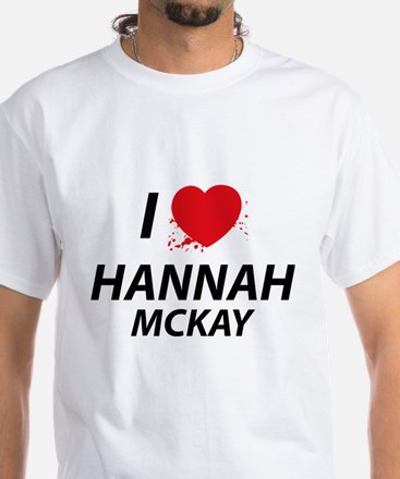 I Love Hannah - Dexter White T-Shirt