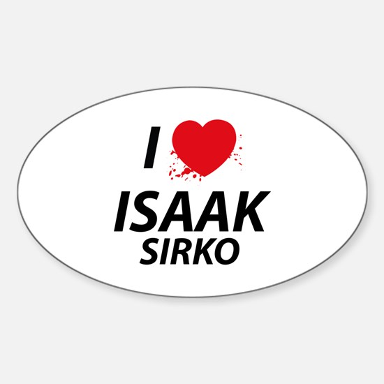 I Love Isaak - Dexter Sticker (Oval)