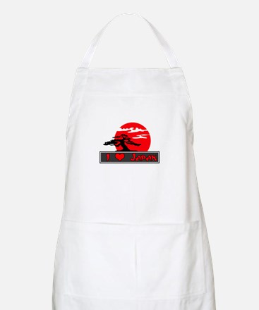 I Heart (Love) Japan BBQ Apron