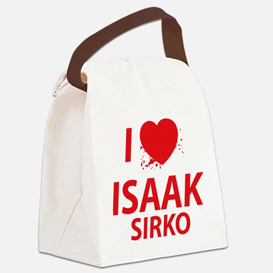 I Love Isaak - Dexter Canvas Lunch Bag