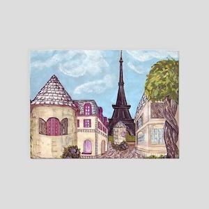 Paris Eiffel Tower Inspired Landscape Painting Cit