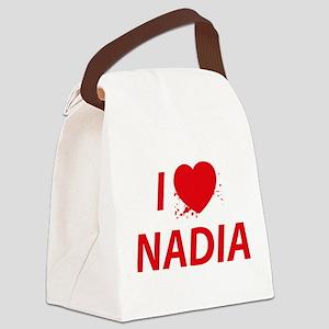 I Love Nadia - Dexter Canvas Lunch Bag