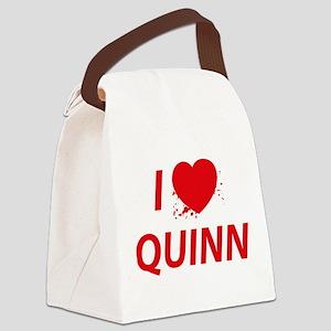 I Love Quinn - Dexter Canvas Lunch Bag