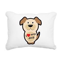 I love my dog Rectangular Canvas Pillow