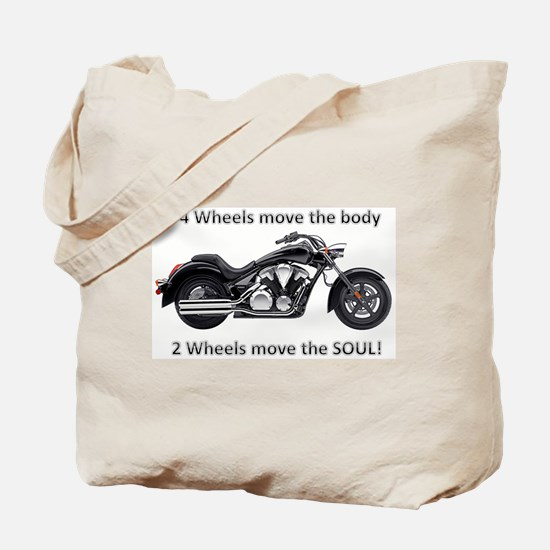 Biker Quote Tote Bag