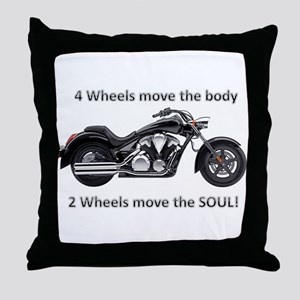 Biker Quote Throw Pillow