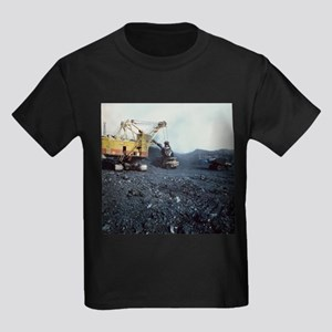 Kid's Dark T-Shirt - Open cast coal mining