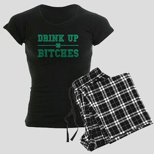 Vintage Drink Up Bitches Women's Dark Pajamas