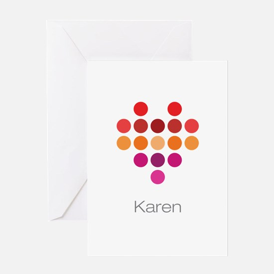 I Heart Karen Greeting Card