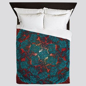 Queen Duvet - Norwalk virus particle