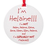 I'm Helaine Round Ornament