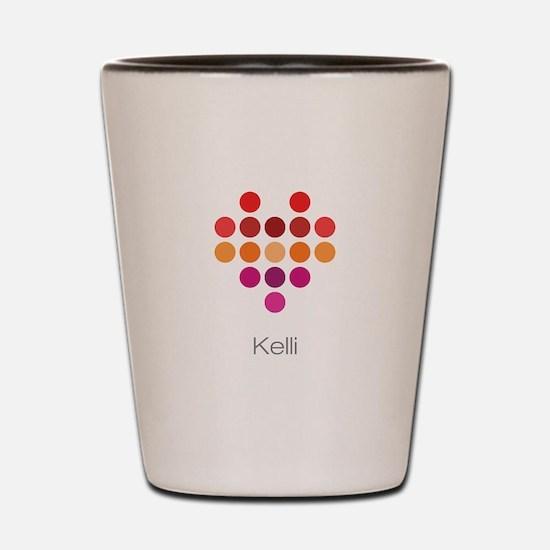 I Heart Kelli Shot Glass