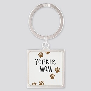 yorkie mom Square Keychain