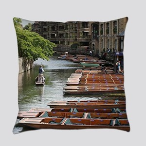 Punts at Cambridge, England Everyday Pillow