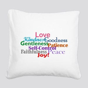 Fruit of the Spirit Square Canvas Pillow