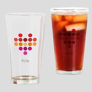 I Heart Kris Drinking Glass