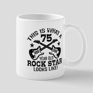 75 Year Old Rock Star Mug