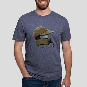 Wool Hat Face Guard Mens Tri-blend T-Shirt
