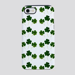 st patricks day shamrocks iPhone 7 Tough Case