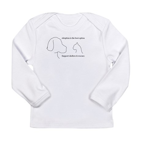 Adoption is the best option Long Sleeve Infant T-S